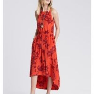 Bold Floral Silk High/Low